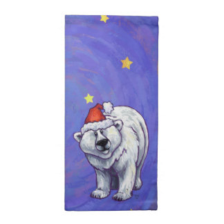 Serviettes De Table Noël d'ours blanc