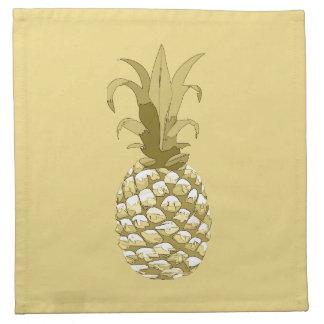 Serviettes De Table Or ID239 d'ananas