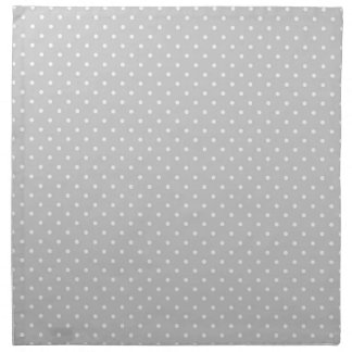 Serviettes De Table Point de polka gris