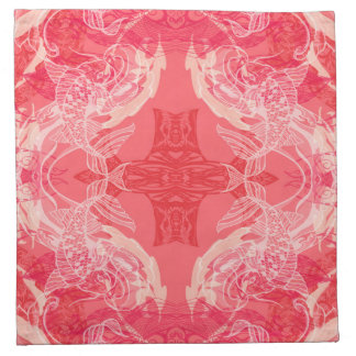Serviettes De Table rose rouge
