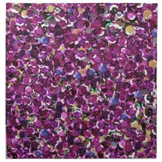 Serviettes De Table Scintillement rose d'étincelle de paillettes