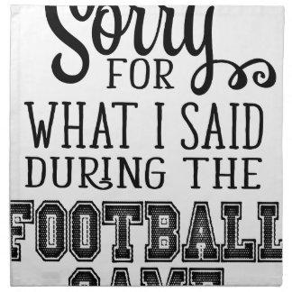 Serviettes De Table Tasse du football
