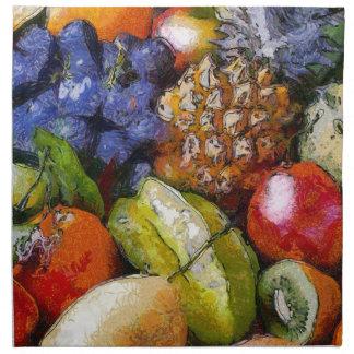 SERVIETTES DE TABLE VARIOUS FRUITS