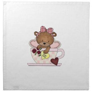 Serviettes De Table Véritable ours de nounours d'amour