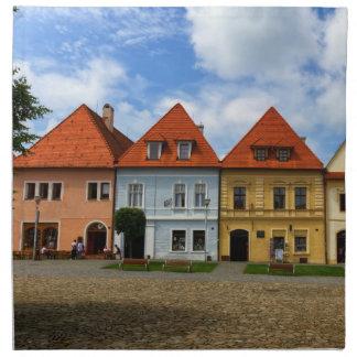 Serviettes De Table Vieilles maisons de ville dans Bardejov, Slovaquie