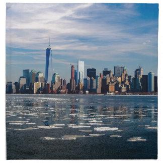 Serviettes De Table Ville Manhattan de New York City d'horizon de New