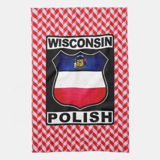 Serviettes de thé américaines polonaises du