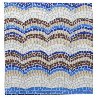 Serviettes de tissu de cocktail avec la mosaïque