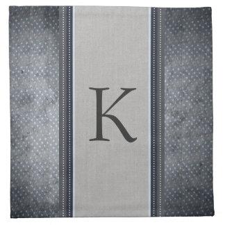 Serviettes de tissu de monogramme d'étoiles