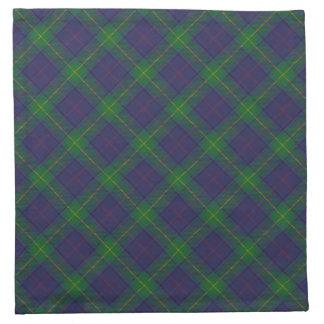 Serviettes écossaises de tartan de clan de Boyle