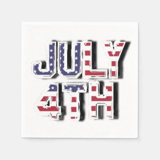 Serviettes En Papier 4 juillet