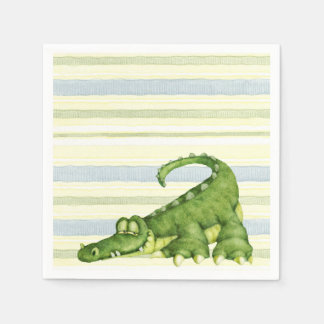 Serviettes En Papier Alligator - serviettes