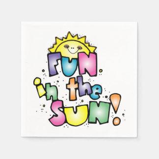 Serviettes En Papier Amusement au soleil