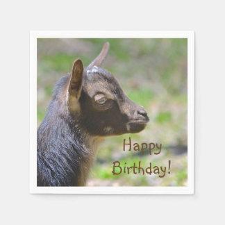 Serviettes En Papier Anniversaire adorable de chèvre de bébé