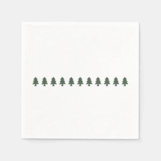 Serviettes En Papier Arbres de Noël