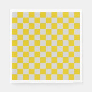 Serviettes En Papier Argent et or Checkered