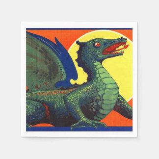 Serviettes En Papier Art d'imaginaire de dragon