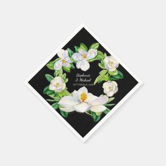Serviettes En Papier Art nuptiale moderne de guirlande de fleurs de