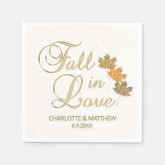 Serviettes En Papier Automne élégant d'automne dans le mariage blanc de