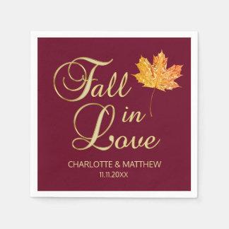 Serviettes En Papier Automne élégant d'automne dans le mariage de