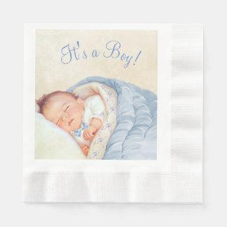 Serviettes En Papier Baby shower de cru de garçons
