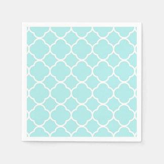 Serviettes En Papier Bleu élégant moderne géométrique de Quatrefoil