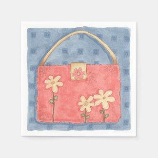 Serviettes En Papier Bourse rose - serviettes de papier