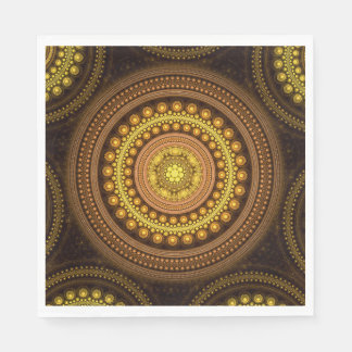 Serviettes En Papier Cercles de fractale