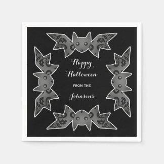 Serviettes En Papier Chauve-souris heureuse de Halloween