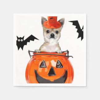 Serviettes En Papier Chien de chiwawa de Halloween