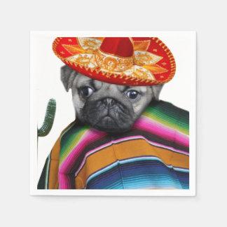Serviettes En Papier Chien mexicain de carlin
