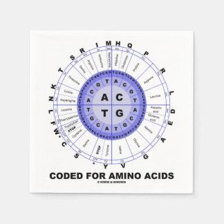 Serviettes En Papier Codé pour les acides aminés (ADN de code