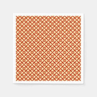 Serviettes En Papier Copie florale de kimono, mandarine
