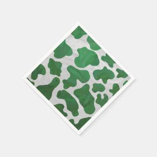 Serviettes En Papier Copie verte et blanche de vache