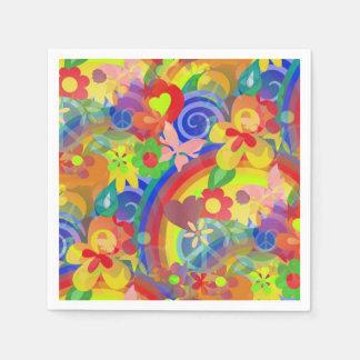 Serviettes En Papier Couleurs de flower power + vos idées