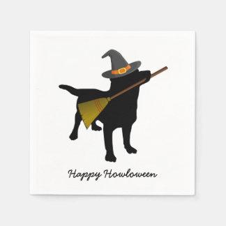 Serviettes En Papier Coutume noire drôle de casquette de sorcière de