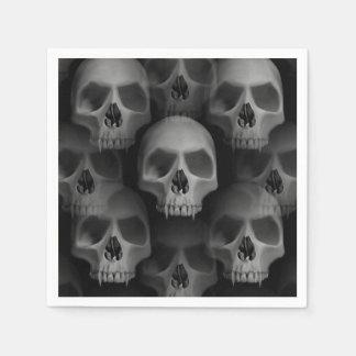 Serviettes En Papier Crâne effrayant de la partie   de Halloween