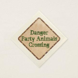 Serviettes En Papier Danger de serviettes de partie de safari