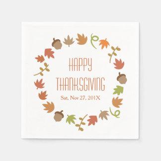 Serviettes En Papier Dîner moderne de thanksgiving
