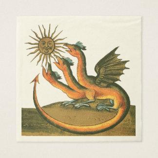 Serviettes En Papier Dragons de Clavis Artis