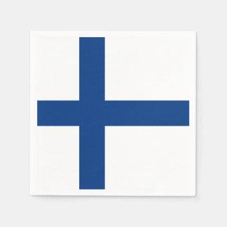 Serviettes En Papier Drapeau de la Finlande