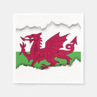 Serviettes En Papier Drapeau du Pays de Galles