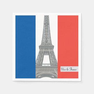Serviettes En Papier Drapeau français, La France, partie de Vive de