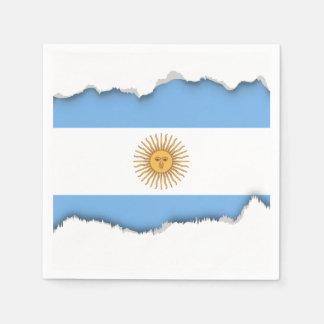 Serviettes En Papier Drapeau traditionnel de l'Argentine