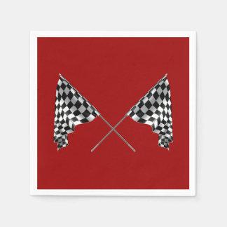 Serviettes En Papier Drapeaux Checkered