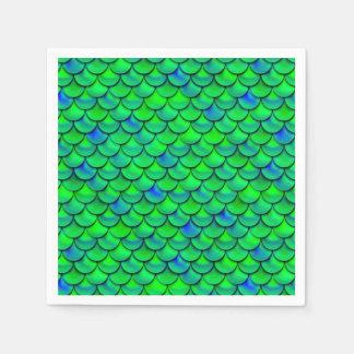 Serviettes En Papier Échelles vert-bleu de Falln