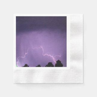 Serviettes En Papier Éclair blanc