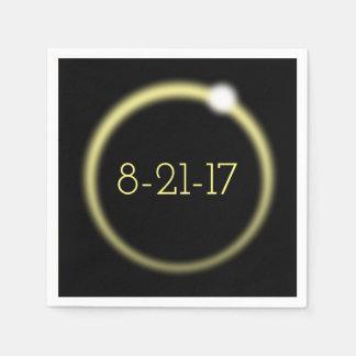 Serviettes En Papier Éclipse solaire totale rougeoyante 2017 de