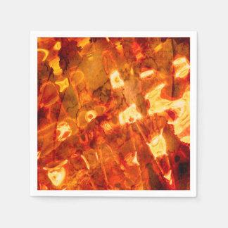 Serviettes En Papier Effet de la lumière orange de motif abstrait