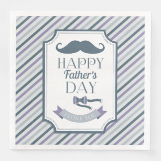 Serviettes En Papier Fête des pères heureuse
